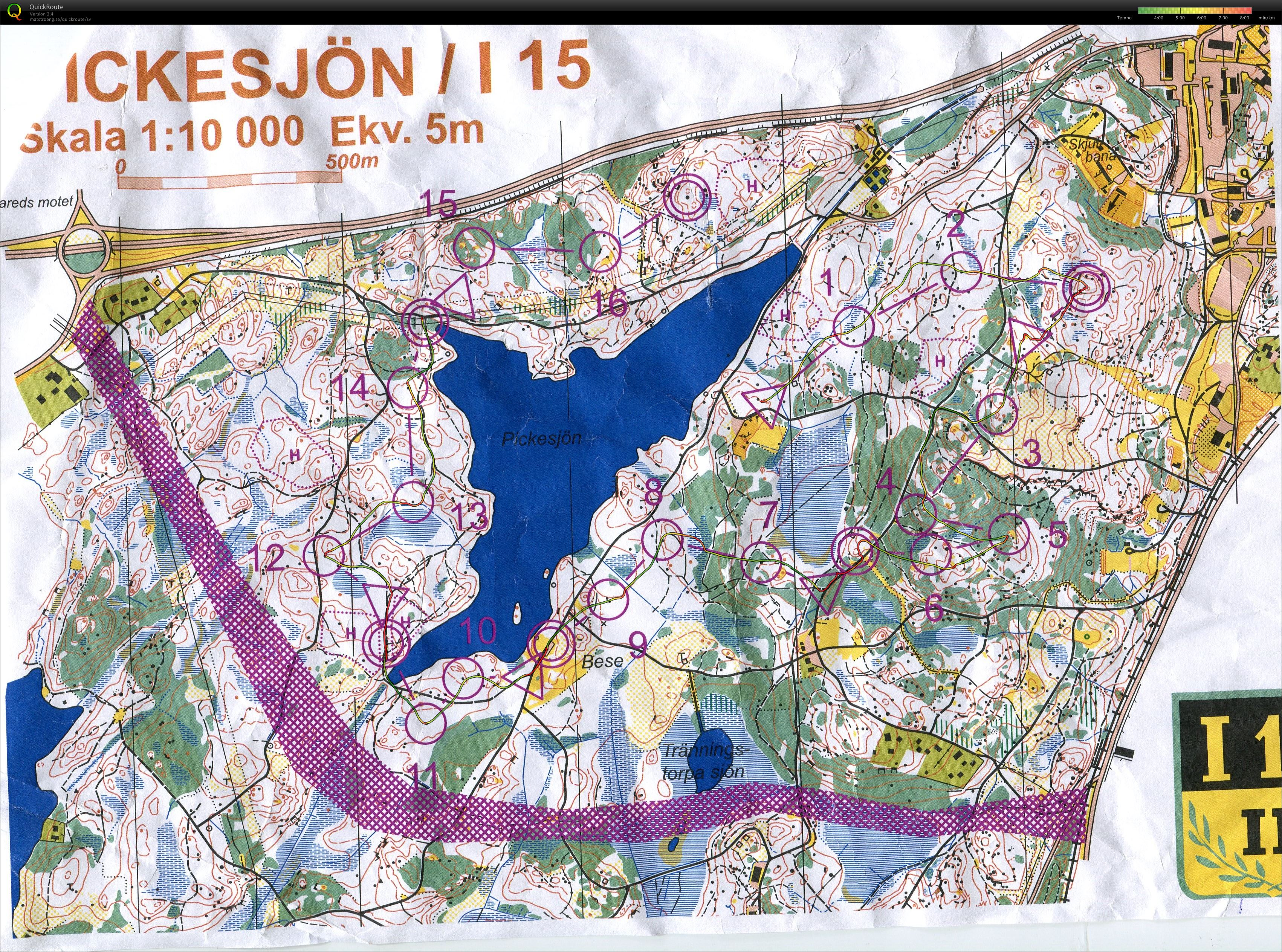 pickesjön karta Mitt digitala kartarkiv :: OL intervaller Pickesjön (03.09.2015) pickesjön karta